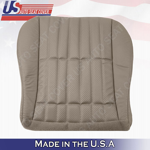 1997 - 2002 Chevy Camaro SS DRIVER Bottom Perforated Leather Seat Cover Tan