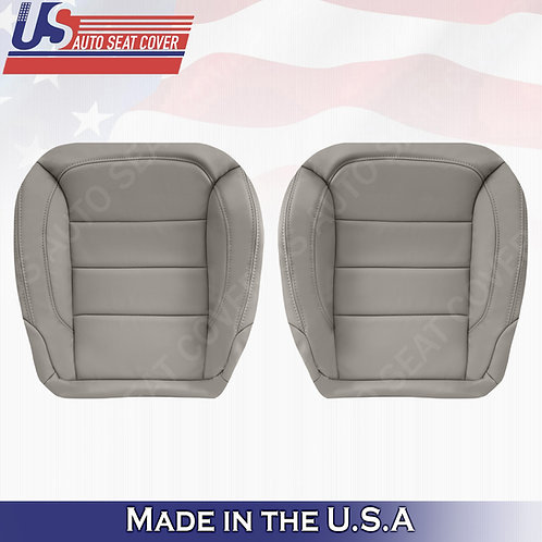 Fits 2012-2015 Mercedes ML250 ML350 Front Bottoms Leather Seat Cover Gray