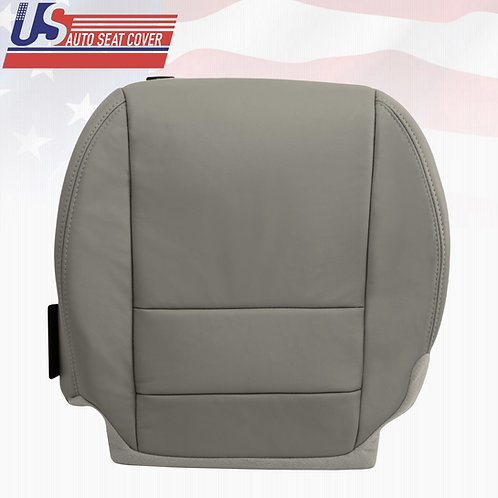 For 2010 13 Acura MDX Driver Bottom Replacement Leather Seat Cover in shade GRAY