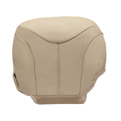 1999-2002 GMC Sierra Yukon 1500HD Driver Bottom Vinyl Seat Cover Shale Tan