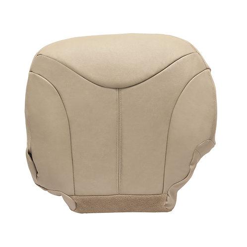 1999-2002 GMC Sierra Yukon 1500HD Passenger Bottom Leather Seat Cover Shale