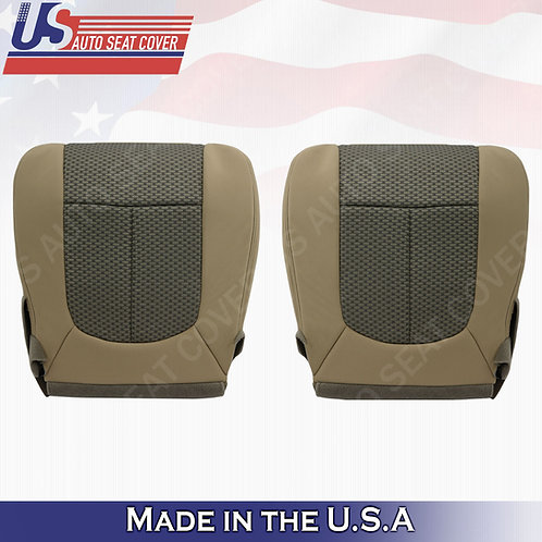 2011-2016 Ford F250 Driver & Passenger Bottom Cloth Seat Cover 2-tone tan