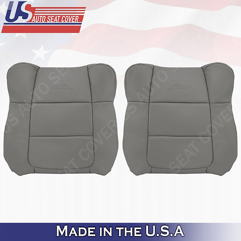 2001-2003 Ford F150 Lariat DRIVER & PASSENGER Top leather Cover Gray