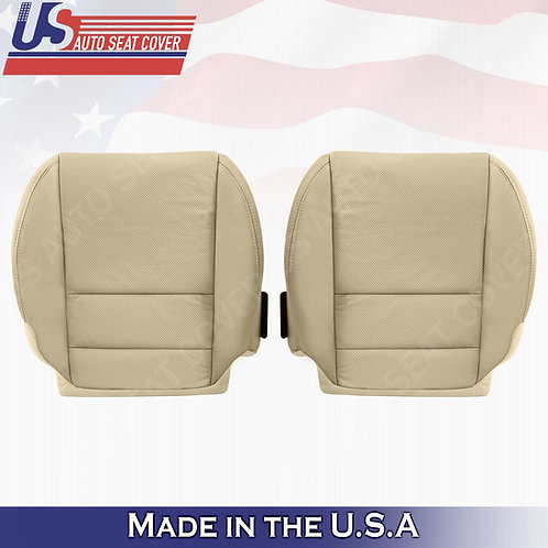 2007-2012 Acura MDX Driver & Passenger Bottom Perforated Leather Seat Cover TAN
