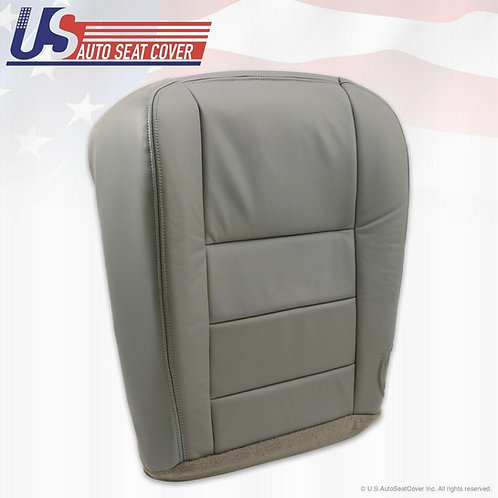 2002-2007 Ford F-250 Lariat Passenger Bottom Leather Seat Cover Gray