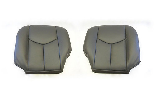 2003-2006 Chevy Silverado 1500 HD Bottoms Leather Seat Cover Gray