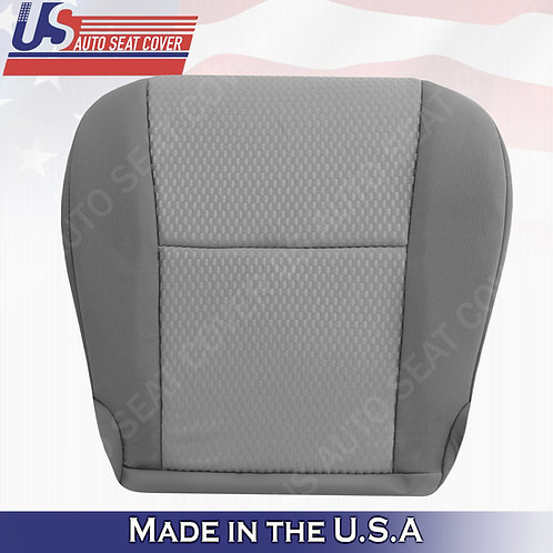 2011-2015 Toyota Tacoma Passenger bottom Cloth seat Cover in 2-tone gray