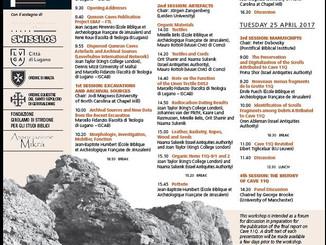Si ritorna a parlare delle Grotte di Qumran. Appuntamento a Lugano
