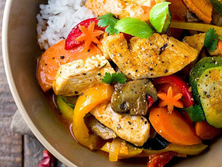 Coconut Rice with Thai Chicken Stir fry - by McCormick.com