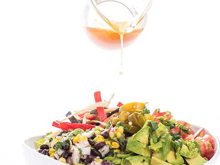 VEGETARIAN BURRITO BOWLS WITH HONEY CHIPOTLE VINAIGRETTE - recipe by Lemon Bowl.com