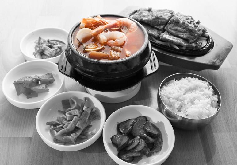 Seafood tofu & Galbi
