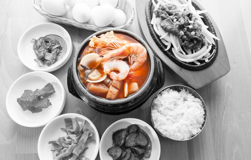 Bulgogi & Seafood tofu