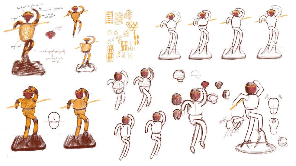 Sketches of Neo Monkey King