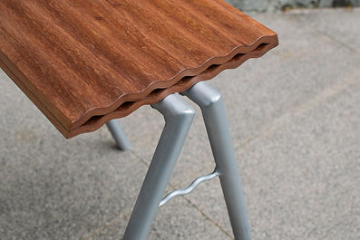 Close view of Tole stool details