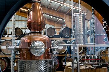 Copper pot stills at 4 Pillars distillery