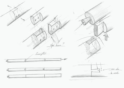 Sketching of dovetail joint