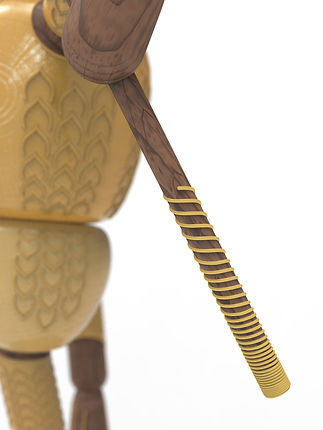Close up vew of staff of Neo Monkey King