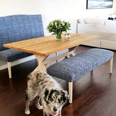 Reclimed Barnwood Table, Custom Benches