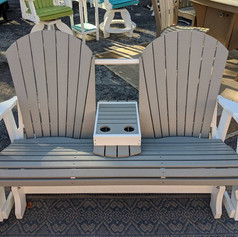 5' Gliding Settee w/ Center Tray