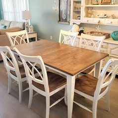 Maple Dining Set w/ Double X back Chairs