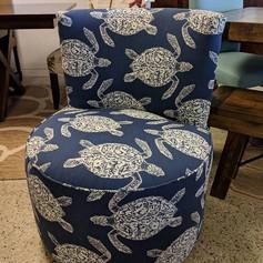 Turtle Barrel Chair
