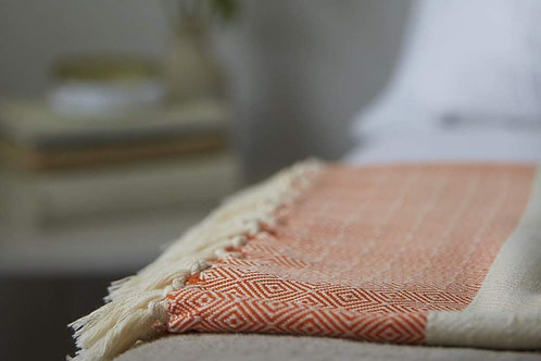 Damla Cotton Blanket From Luks Linen
