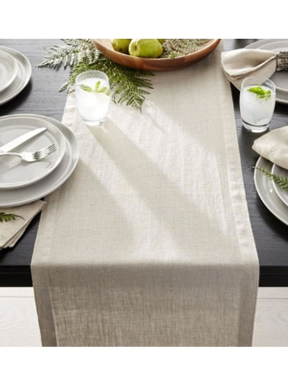 Washed Linen Natural Classic Table Runner