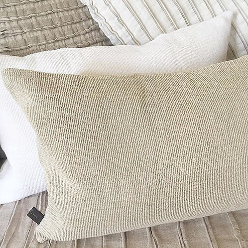 Decorative Natural Cushion Cover by True Linen