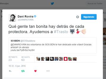 Gracias Dani Rovira. Adopta a #Trasto