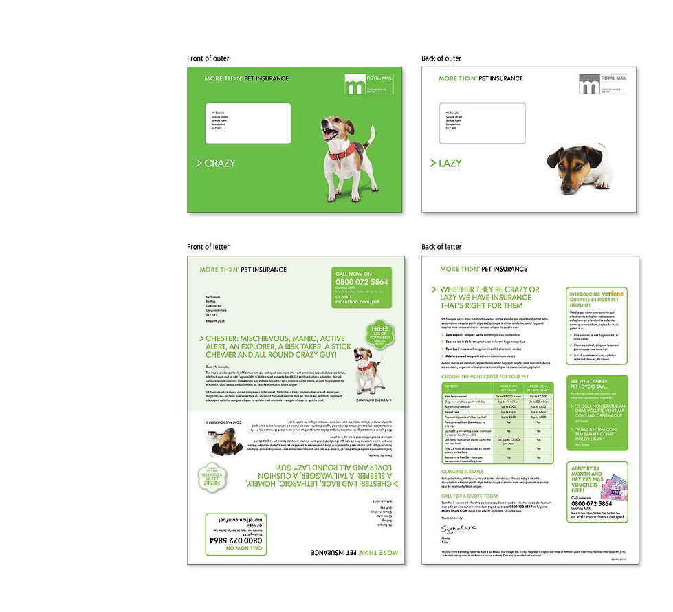 Creative, Agency, design, Graphic design, Marketing, DM, Direct marketing, Kevan Kelsey, Cirencester, Gloucestershire. LV=, LV. Over 50's life insurance. Golf. More Than Pet Insurance