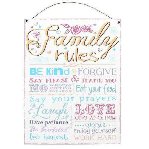 Family Rules Sign