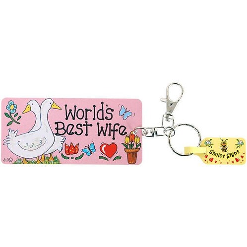 Key Ring - Worlds Best Wife