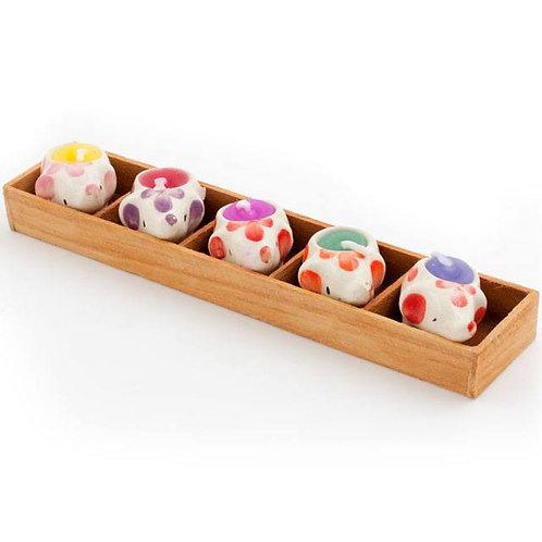 Box of 5 Mini Elephant Candles