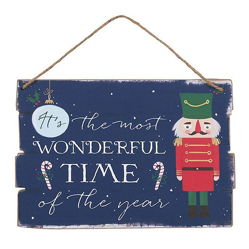 Most Wonderful Time of the Year Nutcracker Plaque