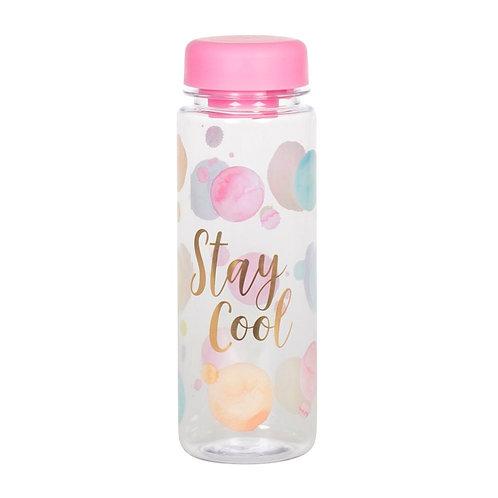 Paint Splash Clear Water Bottle