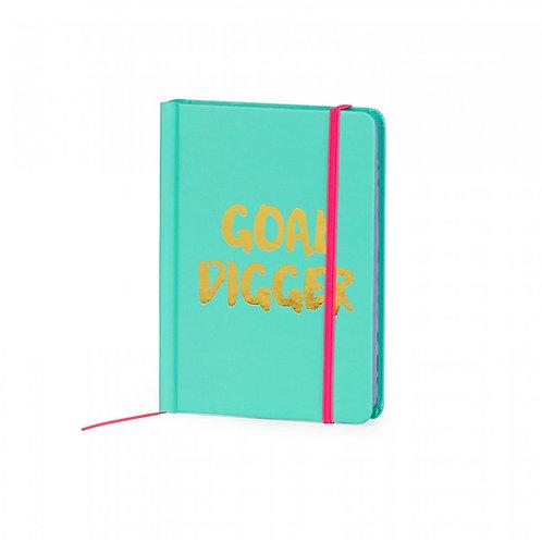 """A6 """"Goal Digger"""" Jade Notebook"""