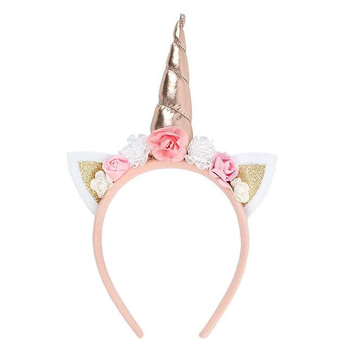 Premium Rose Gold Unicorn Headband