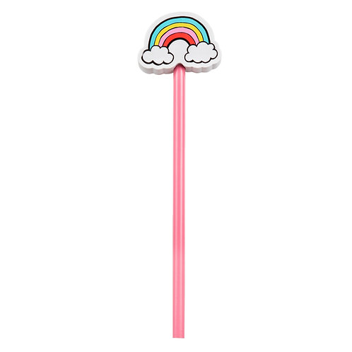 Pencil With Rainbow Eraser Topper - Sass & Belle