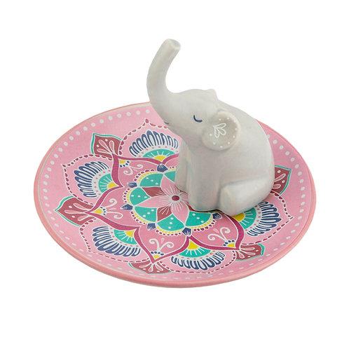 Mandala Elephant Trinket Dish