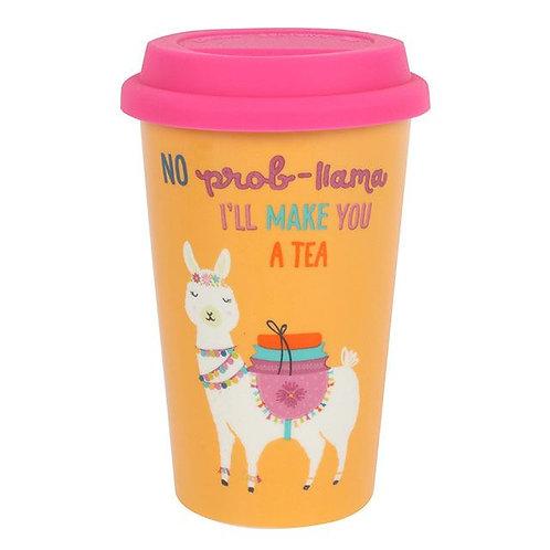Llama Thermal Travel Mug