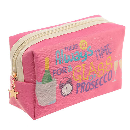 Pop The Prosecco Slogan Toilette Make-Up PVC Washbag