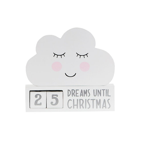 Sweet Dreams Cloud Christmas Countdown Block