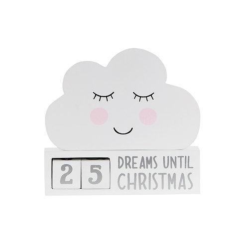 Sweet Dreams Cloud Christmas Countdown Block - Sass & Belle