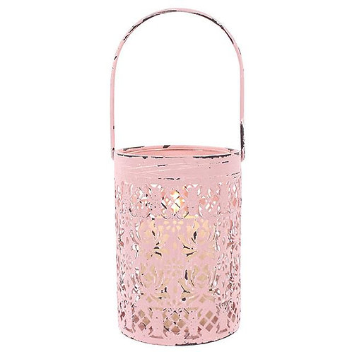 Pink Rustic Candle Holder
