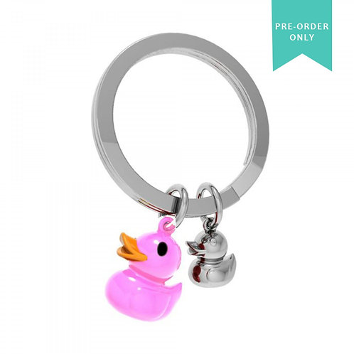 Key Ring - Pink Double Duck