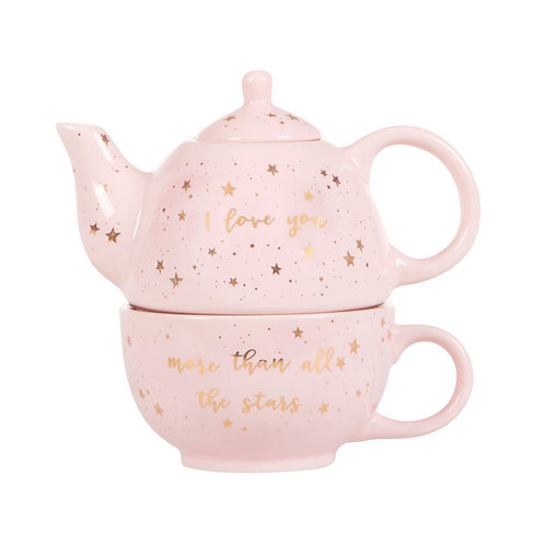 Scattered Stars Love You More Teapot