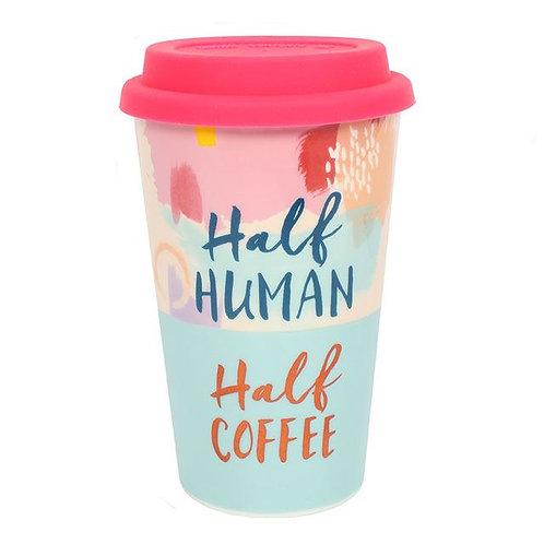 Half Human, Half Coffee Travel Mug