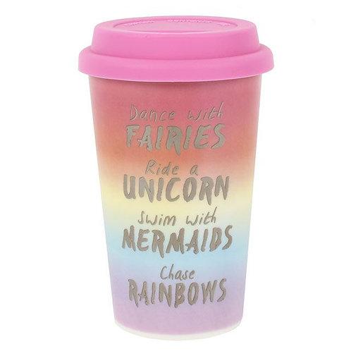 Rainbow Metallic Thermal Travel Mug