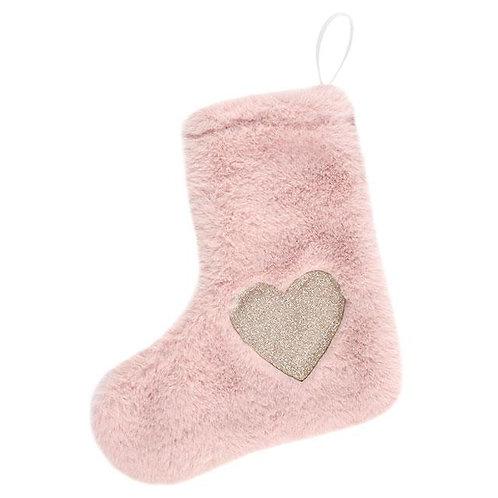 Mini Plush Pink Stocking Decoration