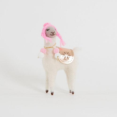 Fa La La Llama Woolly Hat Standing Decoration - Sass & Belle